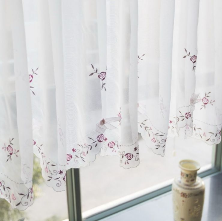 1-piece-45cm-h-150cmw-translucidus-embroidered-rose-ribbon-bow-voile-coffee-font-b-curtain-b