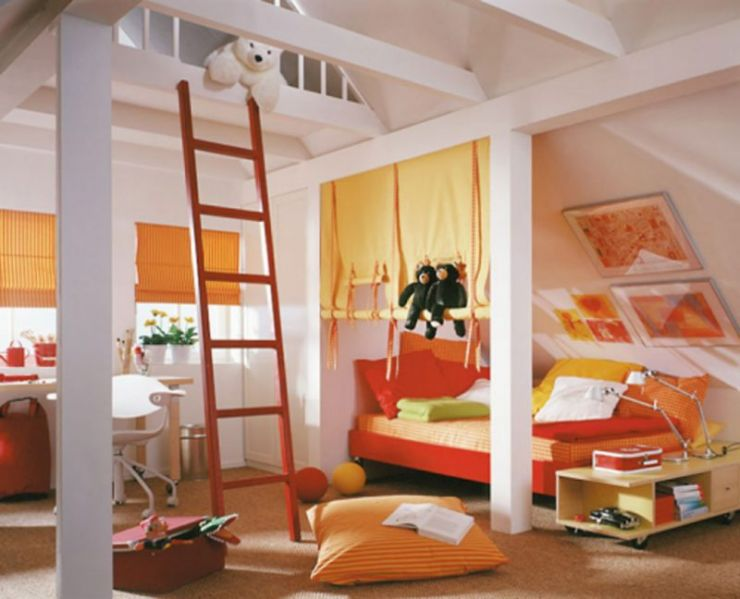 loft-bedroom-interior-designs-with-simple-interior-plans-colorful-kids-bedroom